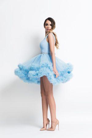 Rochie de seara scurta eleganta tip baby doll in clos