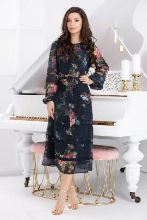 Rochie de zi de ocazie cu imprimeu floral