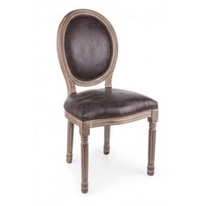 Scaun din lemn de mestecan tapitat cu stofa