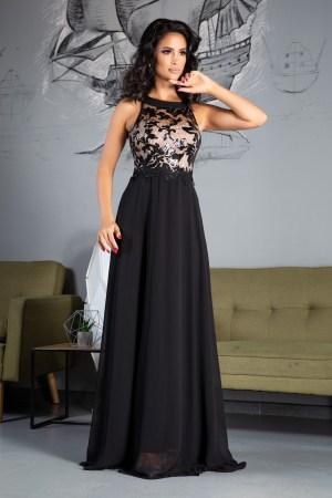 Rochie Eleganta de Ocazie Lunga Neagra