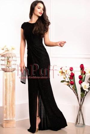 Rochie de seara eleganta neagra cu sclipici