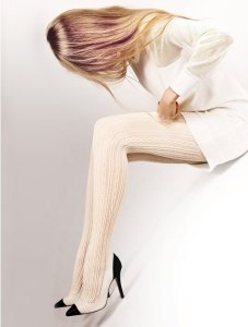 Ciorapi grosi de dama cu model impletit