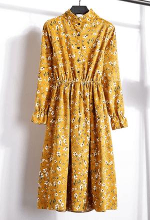 Rochie de zi in clos cu imprimeu floral