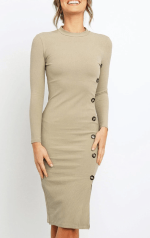 Rochie de zi midi conica eleganta cu guler