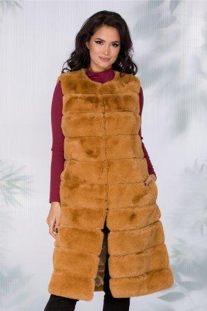 Vesta dama maro din blanita cu insertii piele ecologica