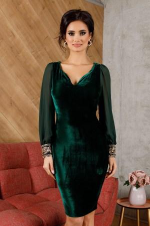 Rochie midi de ocazie din catifea