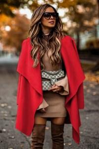 Jacheta dama rosie midi lejera din stofa