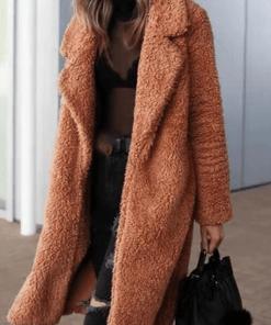 Palton dama lung maro din plus