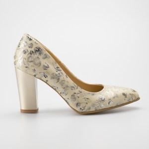 Pantofi Dama Din Piele Naturala Cu Imprimeu