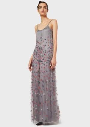 Rochie de seara Giorgio Armani lunga cu broderie si cristale