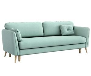 Canapea extensibila albastra 3 locuri Clara