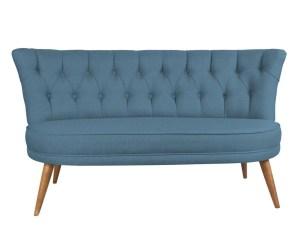Canapea living albastra 2 locuri Sophia