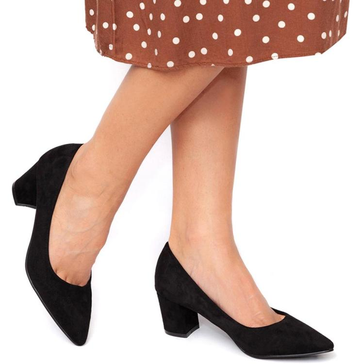 Pantofi dama cu toc gros