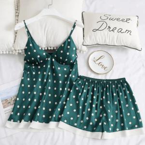 Pijama dama din doua piese cu buline
