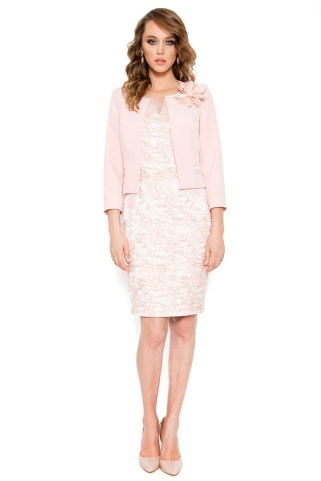 Compleu dama elegant roz prafuit