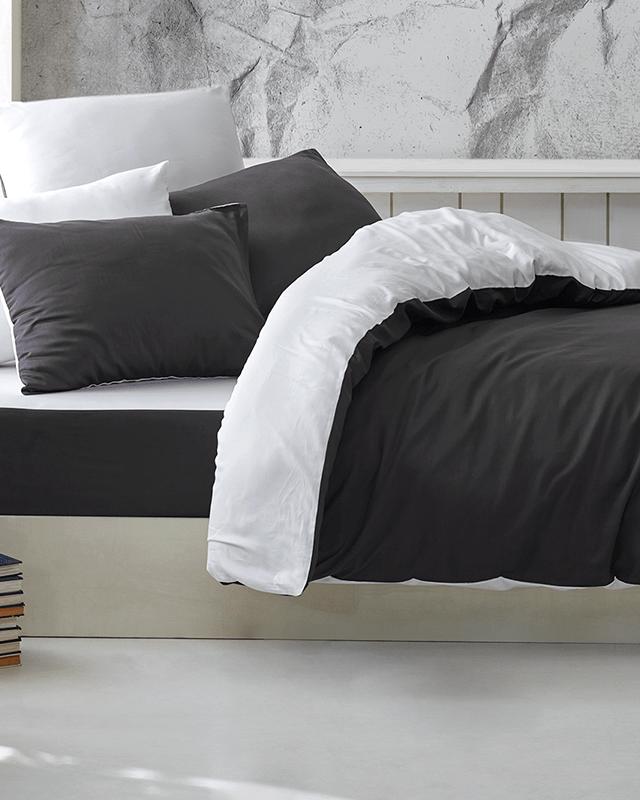 Lenjerie de pat Satin The Bed Set by Cadar Antracit Somproduct