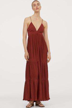 Rochie lungă plisată