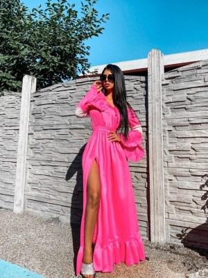 Rochie roz lunga eleganta Foggi