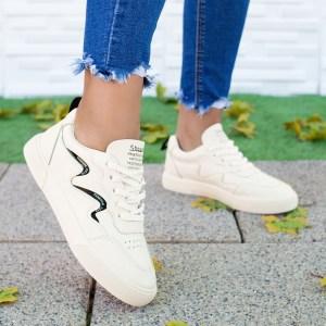 Pantofi sport dama bej Ricoda