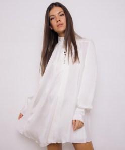 Silky White Dress