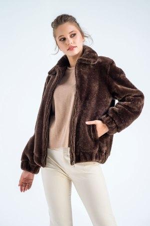 Jachetă din blană de miel merinos