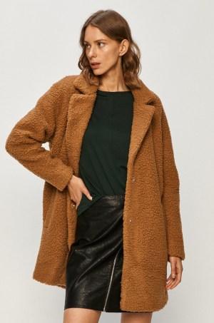 Palton dama maro din material bucle