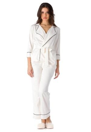 Pijama cu aspect de satin Iris