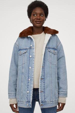 Jachetă de denim căptușită