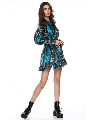 Rochie eleganta din matase cu imprimeu abstract Christa