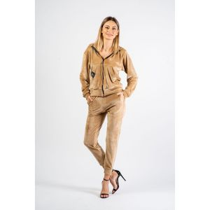 Velvet Tracksuit Regular Fit - Nude