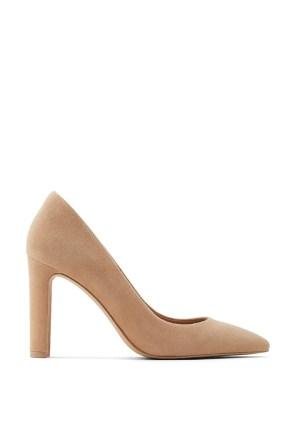 Pantofi din piele intoarsa cu varf ascutit Febriclya