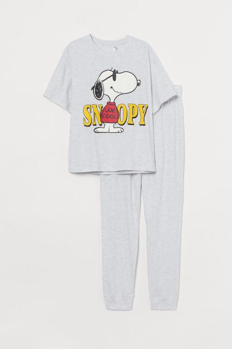 Pijama din jerseu de bumbac