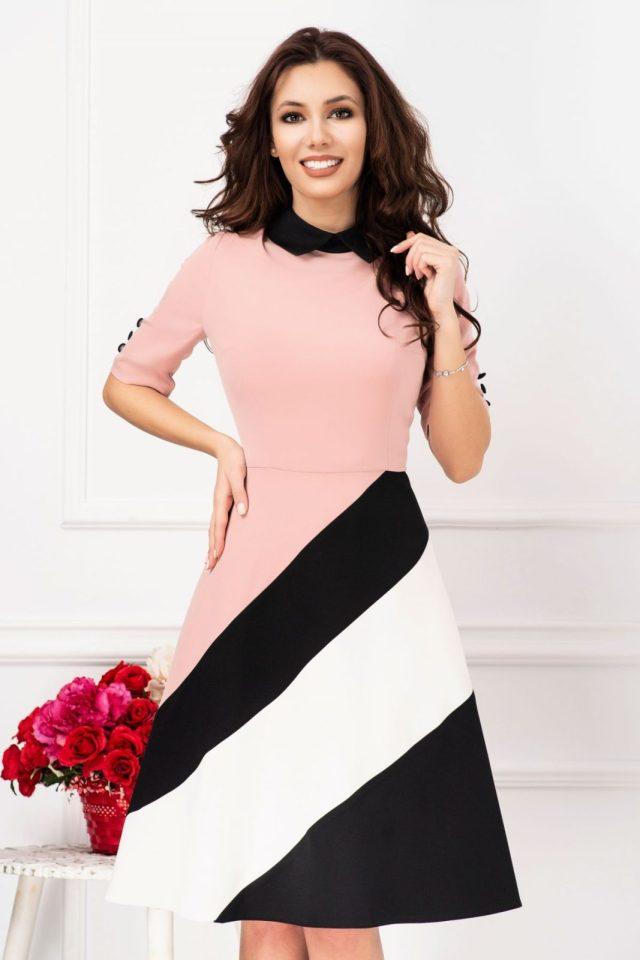 Rochie roz prafuit de zi