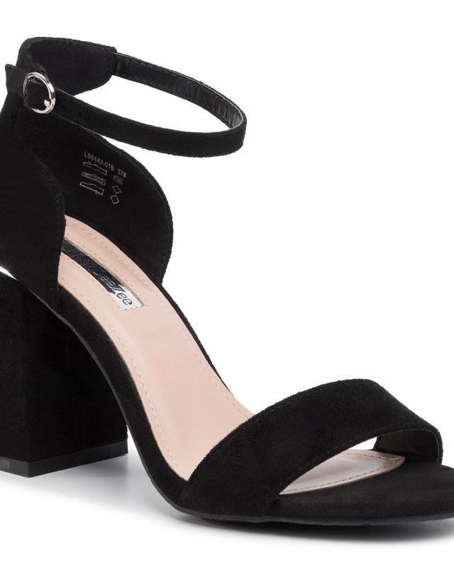 Sandale de zi negre cu toc DEEZEE