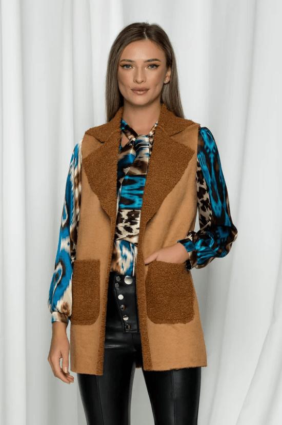 Vesta Misha maro cu aspect de lana de oaie