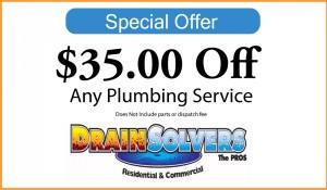 $35 Off Plumbing Service