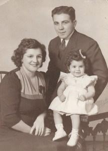 With Linda, circa 1945