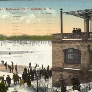 Winter Scene, Delaware park Buffalo
