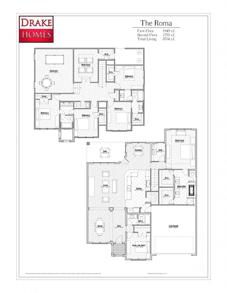 The Roma 3704 sq ft.
