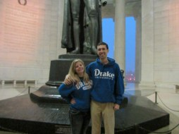 Kayla Day and I sporting DU sweatshirts at the Jefferson Memorial.
