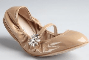 Nude patent leather flats by Miu Miu at Bluefly.com. $425
