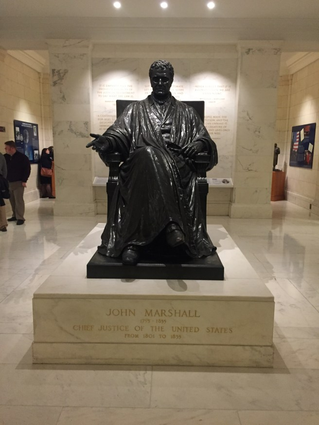 John Marshall statue in Supreme Court building