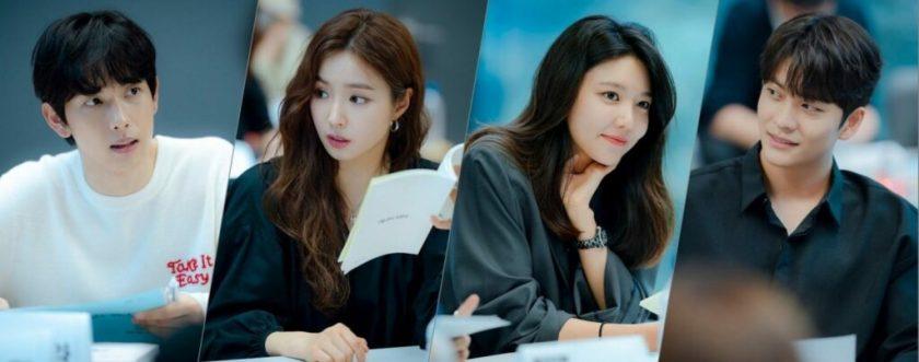 Im Si Wan, Shin Se Kyung, Choi Soo Young, Kang Tae Oh dalam script reading run-on