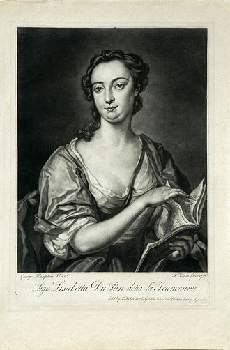 "Lukisan Elisabeth Duparc pemeran Romilda pada Opera ""serse"""