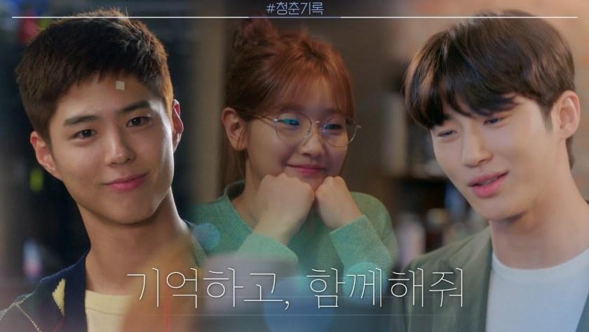 Park Bo Gum - Park So Dam dan Byeon woo-seok dalam Record of Youth