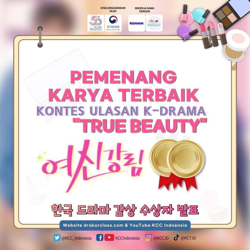 poster pemenang karya terbaik kontes ulasan true beauty