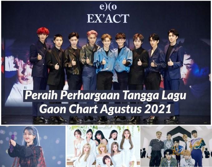 Peraih Perhargaan Tangga Lagu Gaon Chart Agustus 2021