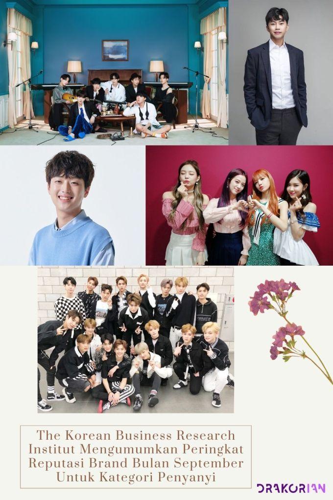 The Korean Business Research Institut Mengumumkan Peringkat Reputasi Brand Bulan September Untuk Kategori Penyanyi
