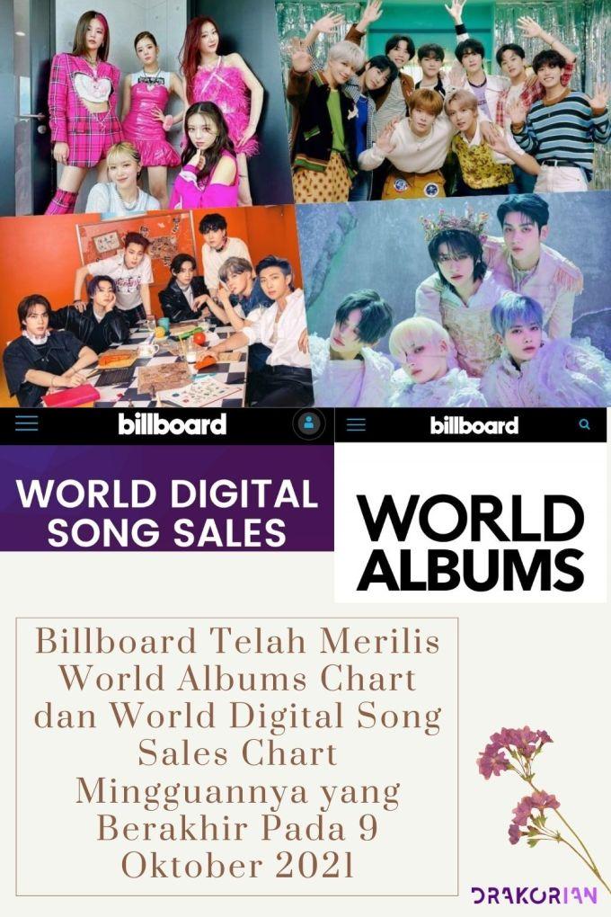 Billboard Telah Merilis World Albums Chart dan World Digital Song Sales Chart Mingguannya yang Berakhir Pada 9 Oktober 2021