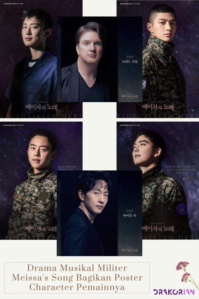 Drama Musikal Militer Meissa's Song Bagikan Poster Character Pemainnya